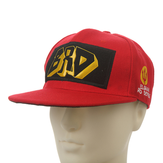 Red Flat Bill Cotton Baseball cap