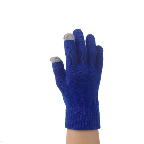 Fashion knit custom acrylic plain color touch gloves