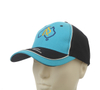 6-panel Flat Embroidery Blue Cotton Baseball cap
