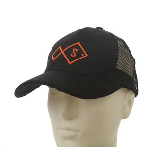 Black 3D Embroidery Mesh Cotton Baseball cap for Summer