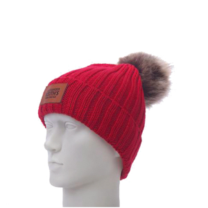 Winter Warm Acrylic Knitted Hat with Pompom