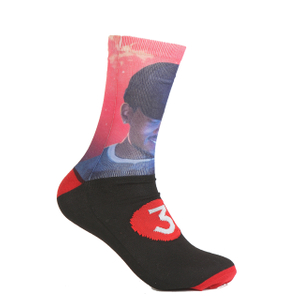 Fashion knit polyester sublimation printing socks