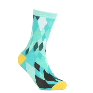 Jacquard knit custom polyester socks